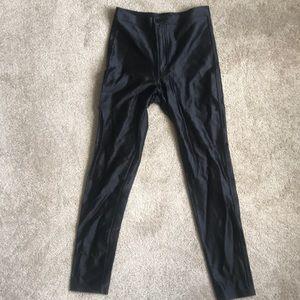 American Apparel Black Nylon/ Elastic Pants